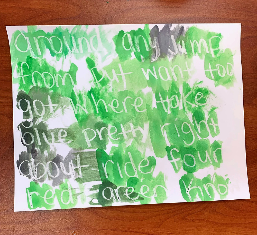 Identifying sight words with painting