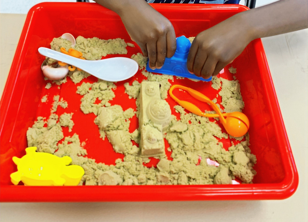 Sensory bins that are great for fine motor skills