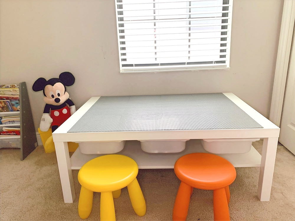 Decluttered and organized toy room for kids