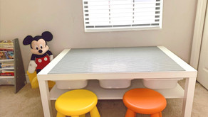 How to make a LEGO table from IKEA LACK center table