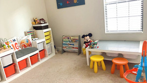 Decluttering and Organizing a toy room or space