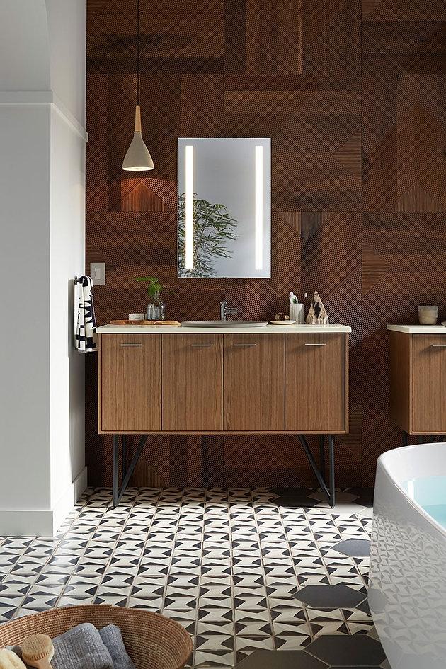 Kohler Inspirations - Organic Flux Bathroom on organic mirrors, international bathroom design, light bathroom design, reclaimed bathrooms design, geometric bathroom design, old hollywood bathroom design, pebble bathroom design, hipster bathroom design, bathroom interior design, indian bathroom design, themed bathroom design, functional bathroom design, wood bathroom design, gold bathroom design, chocolate bathroom design, sustainable bathroom design, natural bathroom design, barn bathroom design, korean bathroom design, african bathroom design,
