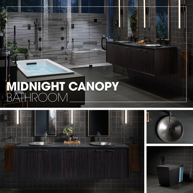 Midnight Canopy Bathroom - Kohler Inspirations