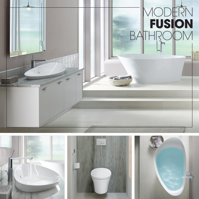 Modern Fusion Bathroom - Kohler Inspirations