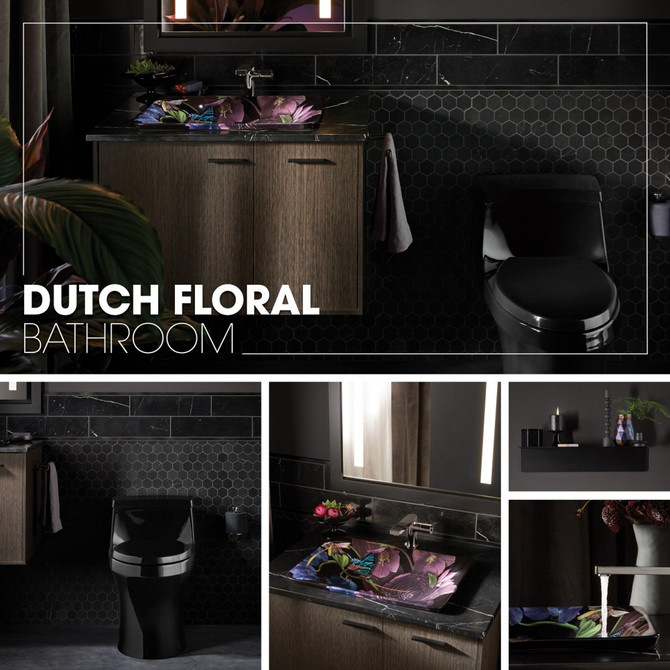Dutch Floral Bathroom - Kohler Inspiration