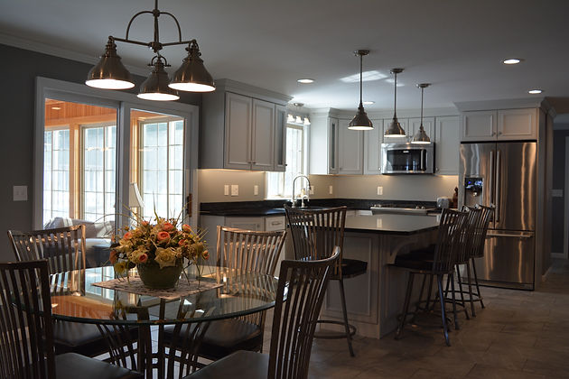 Country To Transitional Modern Kitchen Remodel