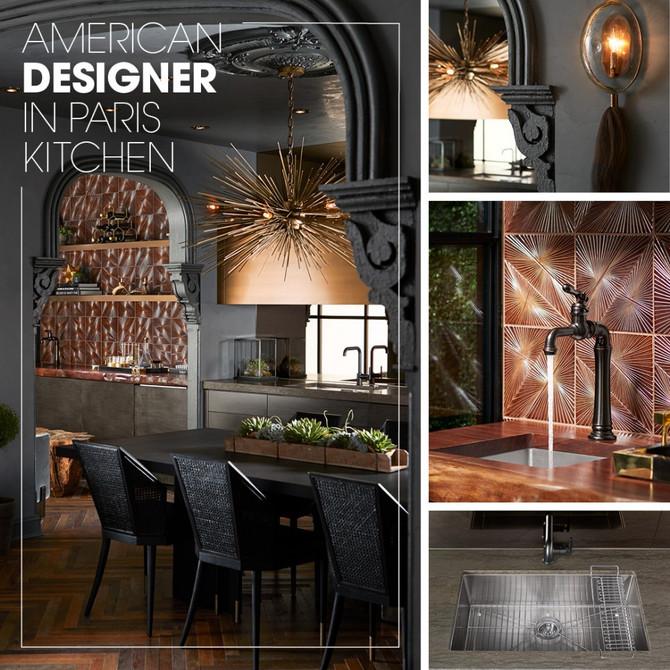Kohler Inspirations - American Designer in Paris Kitchen