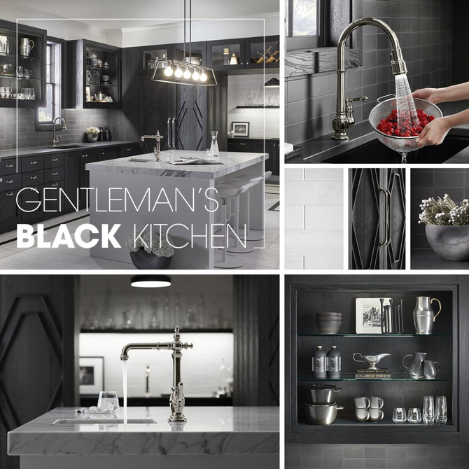 Gentleman's Black Kitchen - Kohler Inspirations