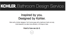 Call us for your $100 discount on the Kohler Bathroom Design Service