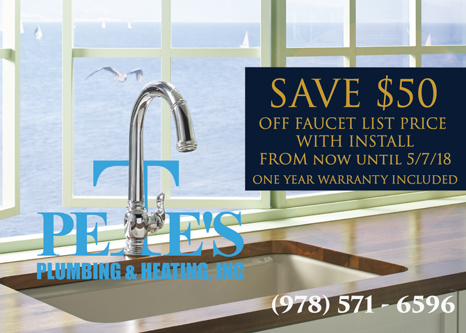 Take Advantage of Our Spring Faucet Special!