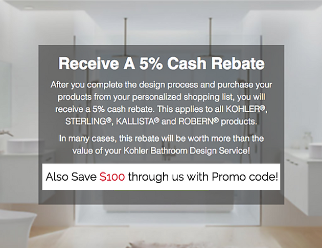 Call us for your $100 discount on the Kohler Bathroom Design ...