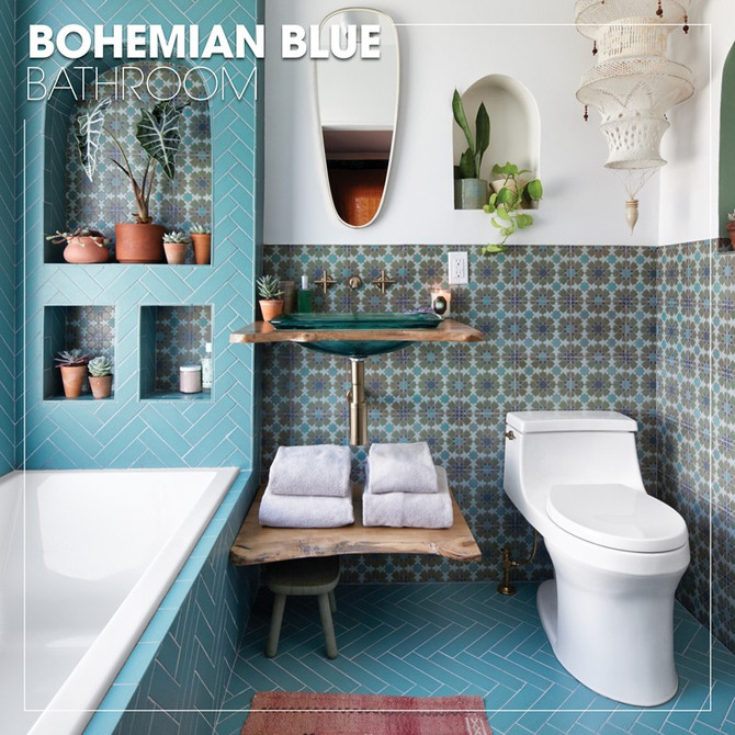 Bohemian Blue Bathroom - Kohler Inspiration