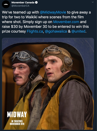 Movember Midway Contest Twitter