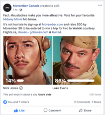 Movember Moustaches Facebook