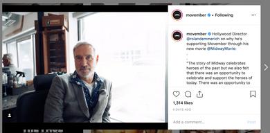 Movember Instagram