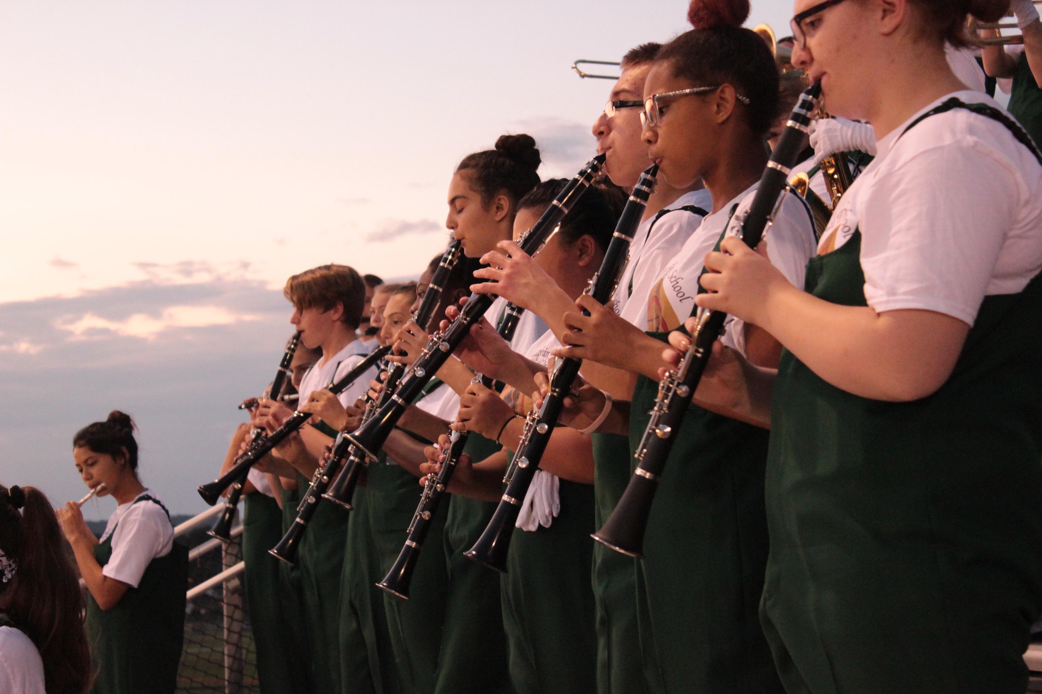 Clarinets rocking game night!
