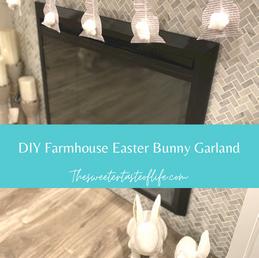 DIY Farmhouse Easter Bunny Garland