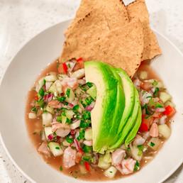 Easy Low Carb Baja Style Shrimp Ceviche