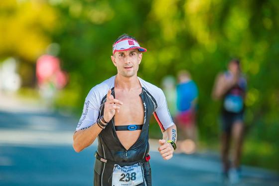 Harfield repeats as triathlon champ