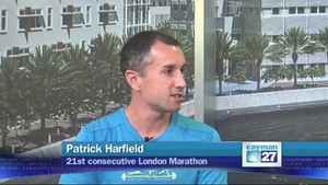 "Video: Patrick Harfield interviewed on Cayman27's ""Let's Talk Sports"" about his 21"