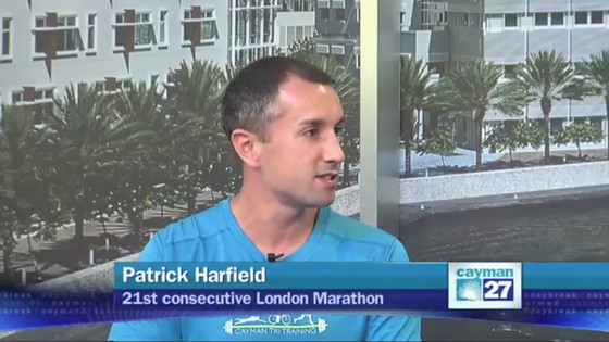 """Video: Patrick Harfield interviewed on Cayman27's """"Let's Talk Sports"""" about his 21"""