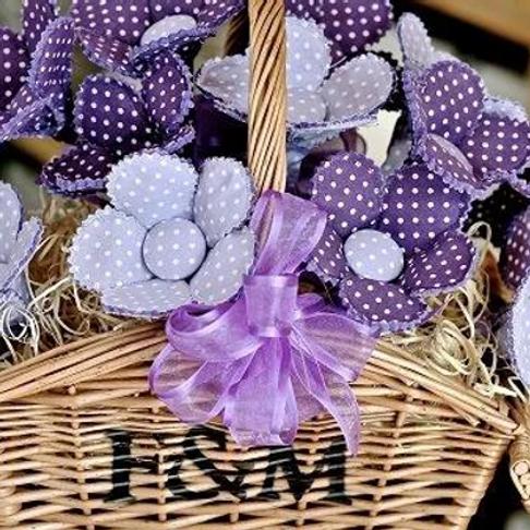 Purple Polka Dot Bouquet