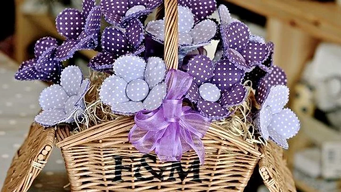 Purple Polka Dot Bouquet
