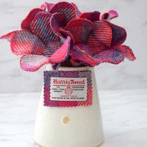 Harris Tweed Fabric Flower Stem