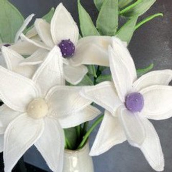 White Lily Fabric Flower