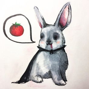 Bloody Bunny  Copic Marker, 2017