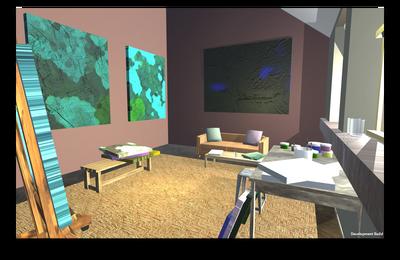 Art Studio Virtual Environment  Modeling in Maya Built in Unity