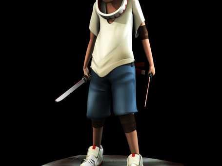 Jorden Model  Design by Kenny Jeong   Programs: Maya, Mudbox   Modeled, Colored, and Textured