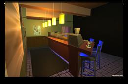 Sushi Bar Virtual Environment  Modeling in Maya Built in Unity