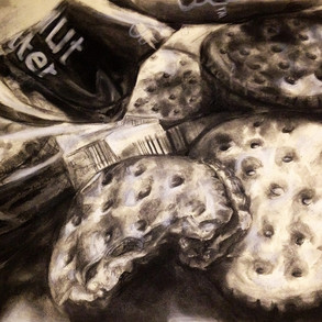 Snack Study  Charcoal on Toned Paper, 2014