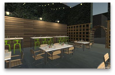 Trailer Bar Virtual Environment  Modeling in Maya Built in Unity