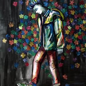 Beautiful Darkness  Acrylic on Canvas, 2017 3' x 4'
