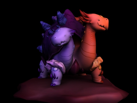 Bipolar Monster Model  Design by Toby Allen  Programs: Maya, Mudbox  Modeled, Colored, and Textured