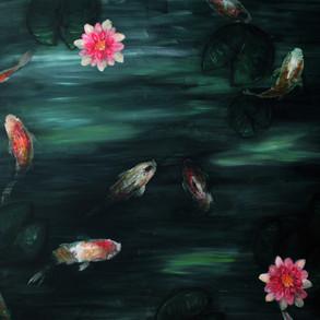 Drowning   Acrylic on Canvas, 2017 4' x 3'