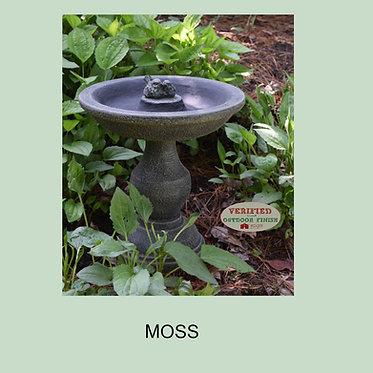 Outdoor Pillar W/Birds Birdbath