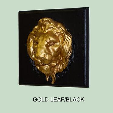 Old World Lion Face Plaque
