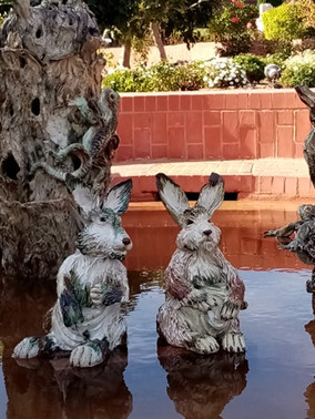 ceramic rabbits