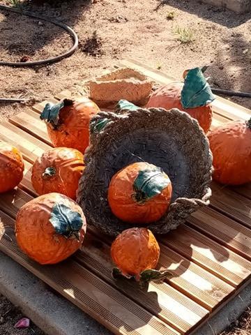 ceramic oranges