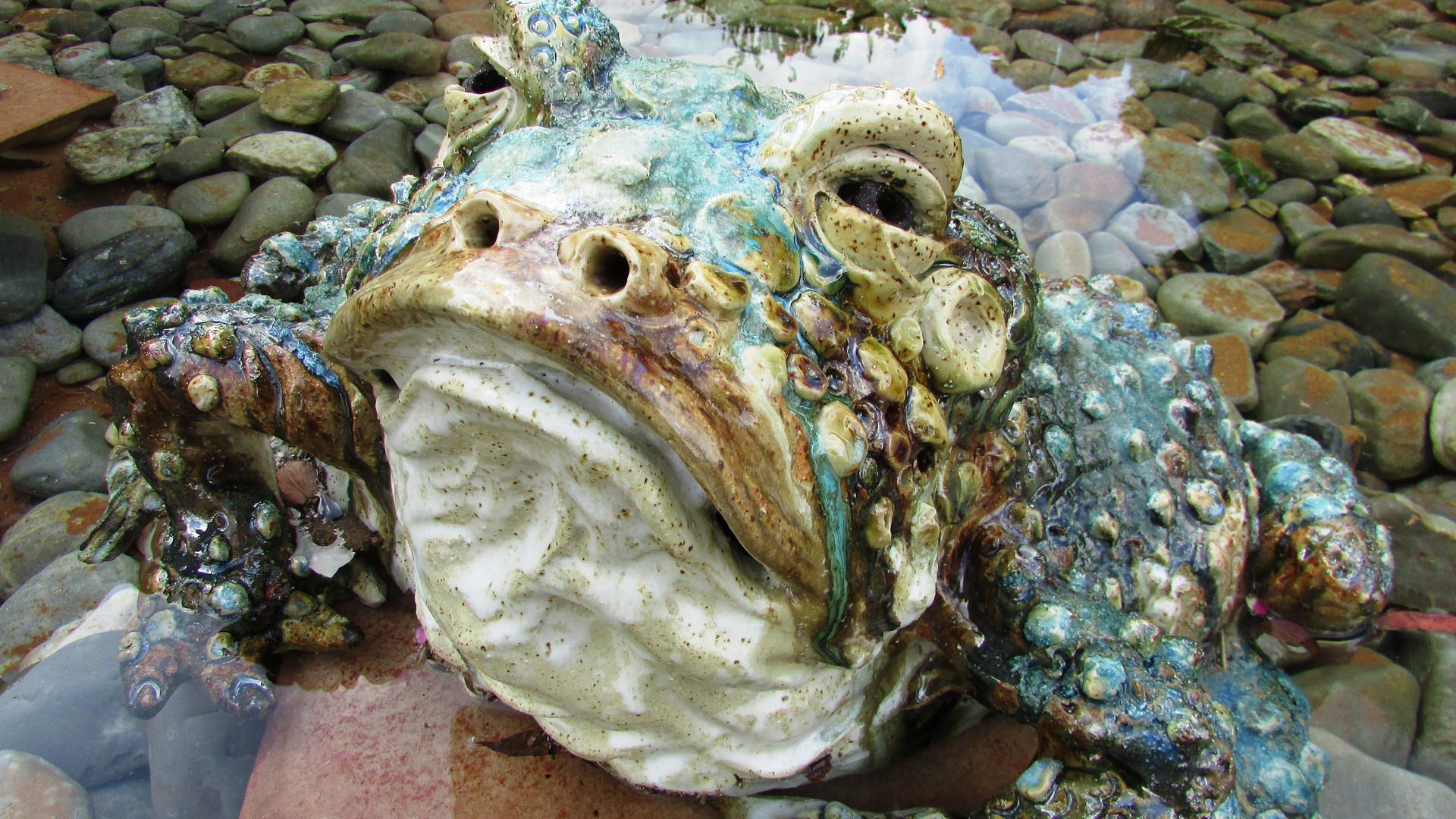 Ceramic frog