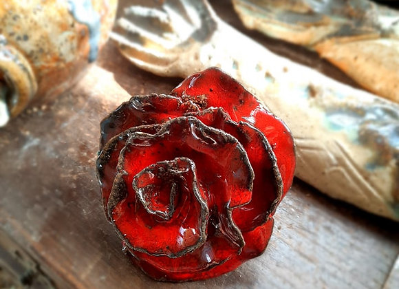 Ceramic  Red Rose