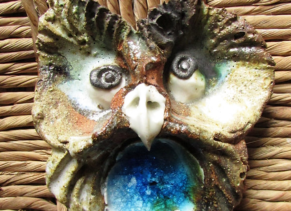 ceramic wall owl