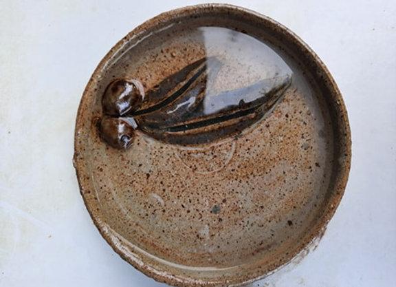 Stoneware ceramic olive dish