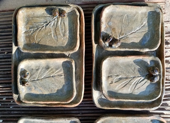 Rectangle stoneware olive plate