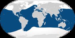 Bottlenose Dolphin Distribution - By Cypron / iucnredlist.org
