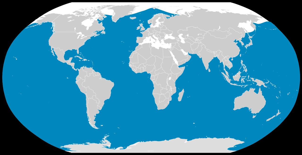 Blue Whale Distribution map