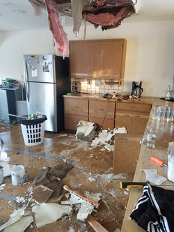 Water damage kitchen